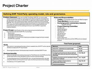 best photos of one page project charter project charter With one page project charter template