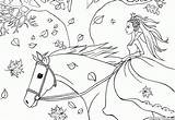Coloring Riding Horse Pages Colorkid sketch template