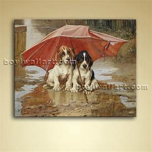 Classical Portrait Dog Painting Oil Canvas Wall Art ...