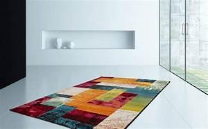 Tapis Chambre Pas Cher : tapis multicolore patchwork vigo pas cher ~ Teatrodelosmanantiales.com Idées de Décoration