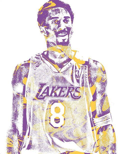 Kobe Bryant Los Angeles Lakers Pixel Art 28 Mixed Media by ...