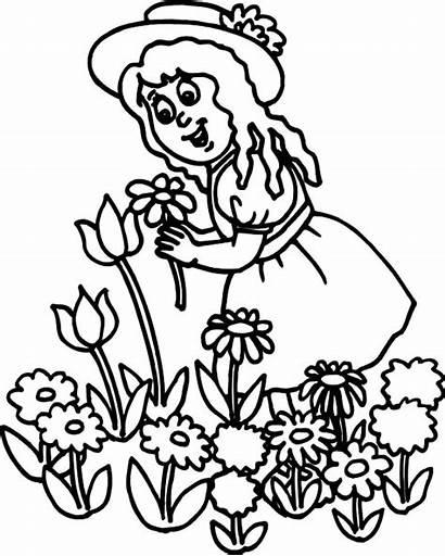 Coloring Pages Garden Flower Wheeler Pick Ballerina