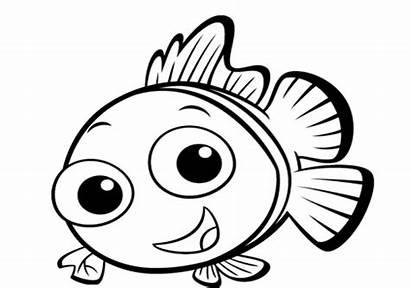 Outline Fish Clipart Nemo Clip Library