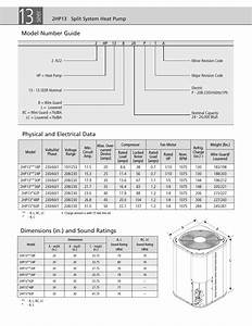 Seer  Model Number Guide  Physical And Electrical Data