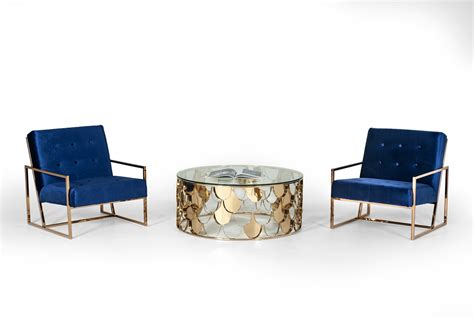 Also set sale alerts and shop exclusive offers only on shopstyle. Modrest Javier Modern Glass & Gold Round Coffee Table ...