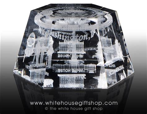 white house gift shop white house monuments memorials hologram glass display