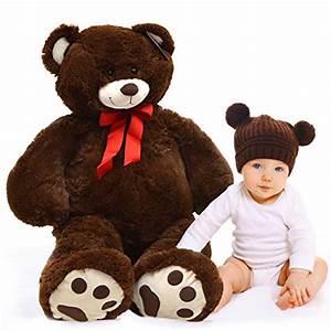 Ours En Peluche Xxl : ours en peluche bruno 100 cm ours en peluche xxl en brun france jeux ~ Teatrodelosmanantiales.com Idées de Décoration