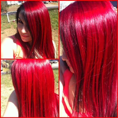 bright red hair   sun loreal hicolor highlights