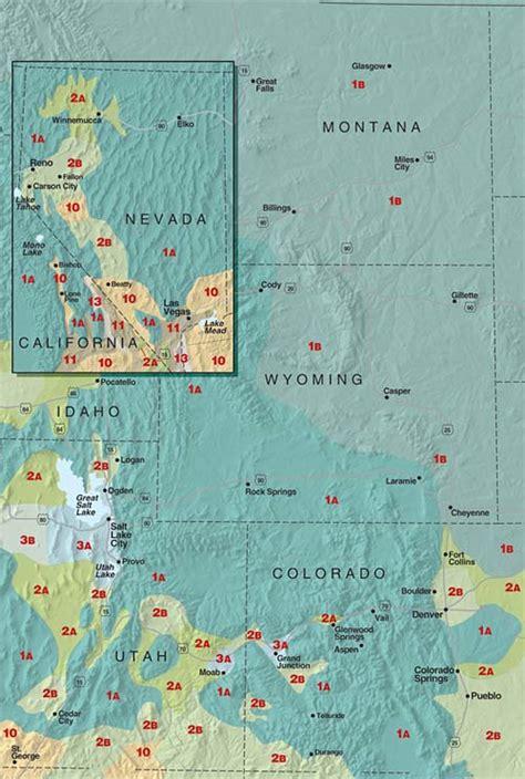 Sunset Climate Zones Nevada, Wyoming, Utah, Colorado