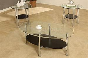 metalic steel frame modern 3pc coffee table set w glass top With contemporary glass coffee table sets