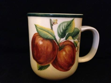 china pearl fine china casuals stoneware apples pattern