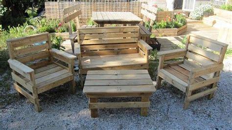 Patio Furniture Made From Pallets by Unique Pallet Outdoor Furniture Ideas Pallet Idea