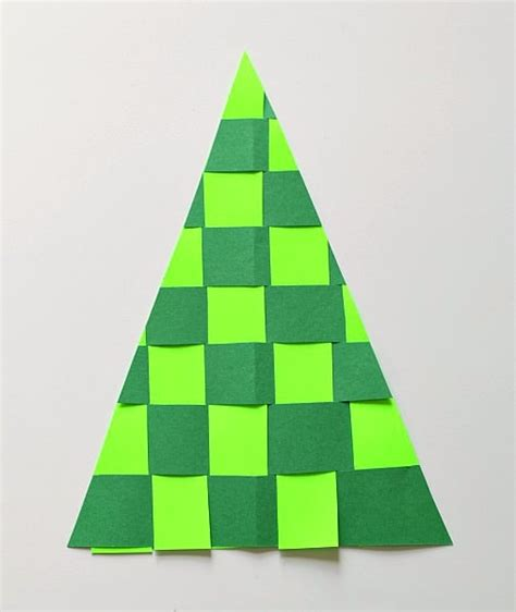 christmas trees made out of consttruction paper crafts for woven paper tree buggy and buddy