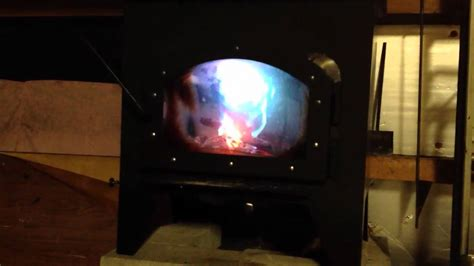 homemade wood burner secondary burn tubes  youtube