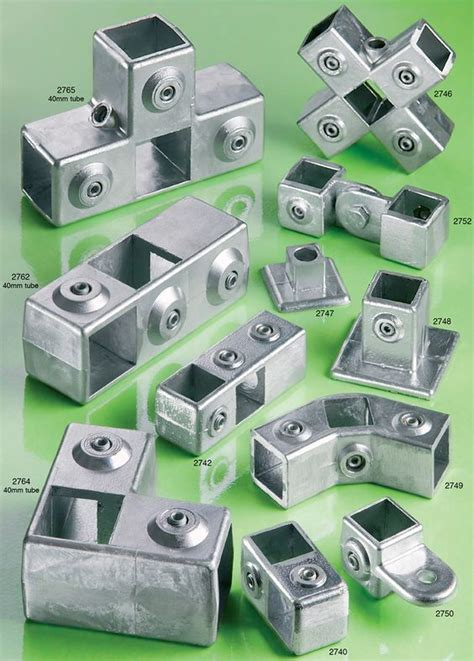 square tube connectors metal flexliner tube