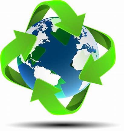 Recycle Earth Map Globe Recycling Scientifically Environmentally