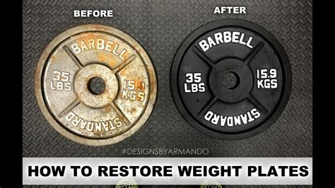 restoring weight plates youtube