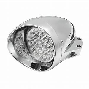 7 U0026 39  U0026 39  Chrome Led Motorcycle Bullet Headlight Light For