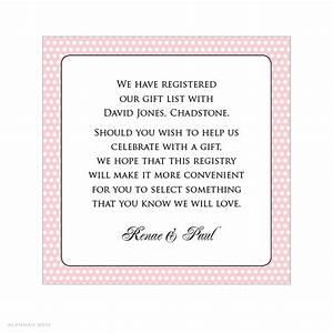 wedding gift list wording midway media With wedding invitation etiquette gift registry