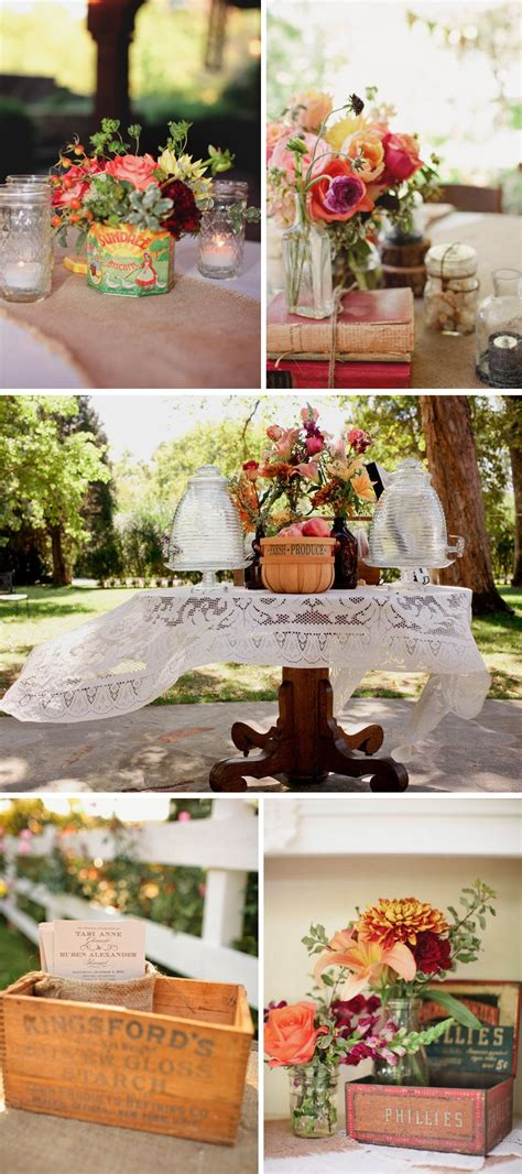 outdoor country western themed wedding colorful wedding