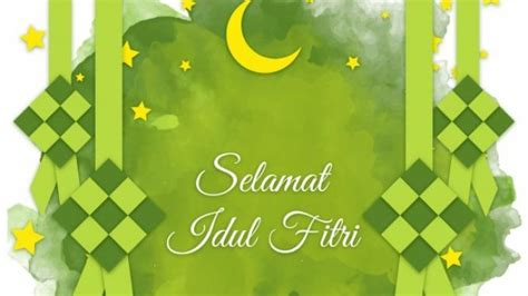 ucapan selamat idul fitri   bahasa indonesia bahasa inggris lengkap  gambar