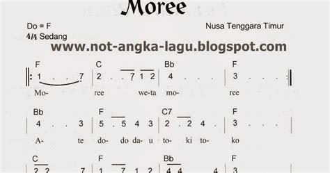 potong bebek angsa not angka not angka lagu moree ntt kumpulan not angka lagu