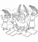 Jesus Jerusalem Palm Sunday Coloring Entry Pages Into Donkey Printable Enters Riding Bible Crafts Branches Triumphal Entering Preschool Craft Leaves sketch template