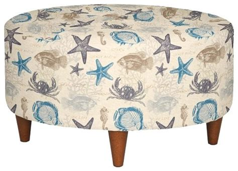Upholstered Beach Fabric Accent Chairs and Ottomans by La ...