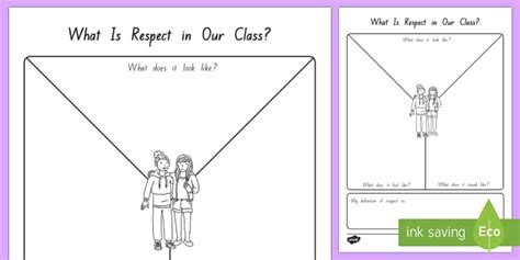 Respect Y Chart Worksheet  Activity Sheet  New Zealand Back To