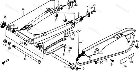 Honda Motorcycle Oem Parts Diagram For Swingarm