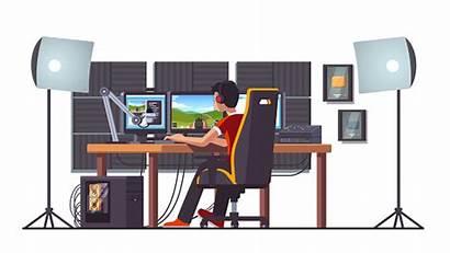 Gaming Gamer Streaming Setup Chair Streamer Pc