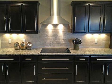 electric cooktop range hood  beautiful dark cabinets