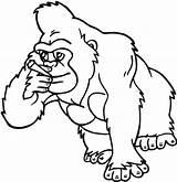 Coloring Cigarette Gorilla Smoking Clipart Designlooter 620px 84kb sketch template