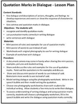 quotation marks worksheets writing quotation marks