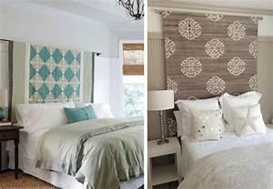 Tete De Lit Tissu : 21 t tes de lit originales en diy bnbstaging le blog ~ Premium-room.com Idées de Décoration