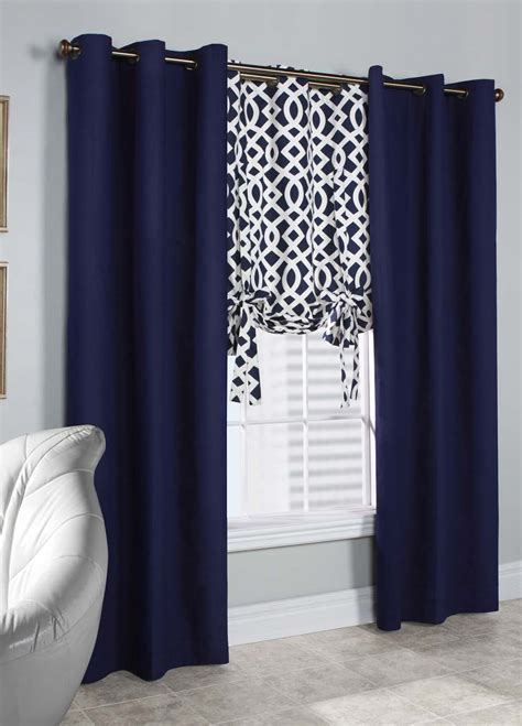 navy window curtains white and navy curtain panels home the honoroak