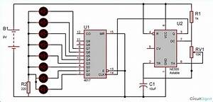 Heart Shaped Serial Led Flasher Circuit Diagram