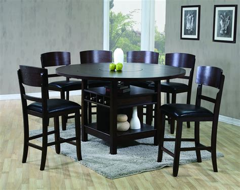 bar height table 6 chairs conner 2849 counter height table and 6 stools