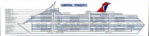 Carnival Valor Deck Plan Printable by Deck Plan Card Side1 Side2