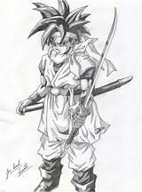 Chrono Trigger Coloring Deviantart Drawing Shadows Goku sketch template