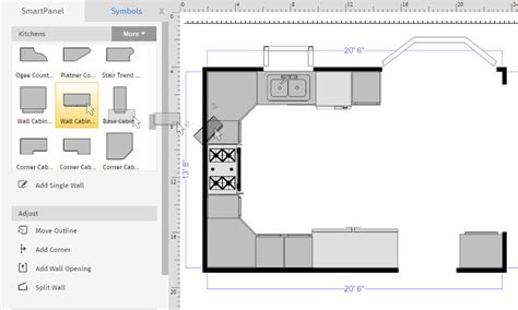 base corner cabinet how to draw a floor plan with smartdraw create floor