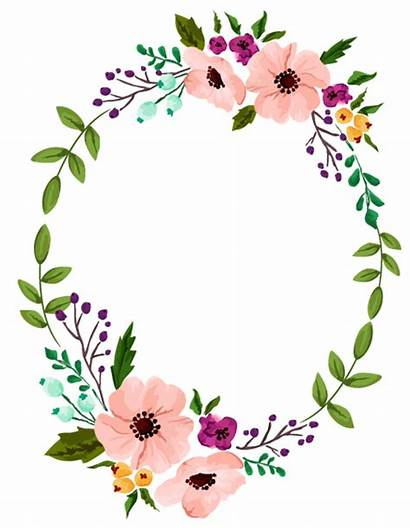 Wreath Watercolor Flower Floral Yoga Invitation Flores
