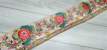 Trim Fabric Trims Decorative Border Yard Indian