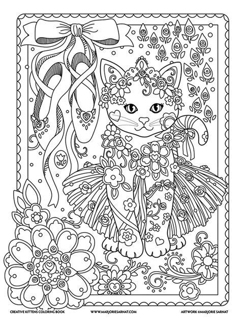 marjorie sarnat creative kittens kitten coloring book cat coloring book coloring books