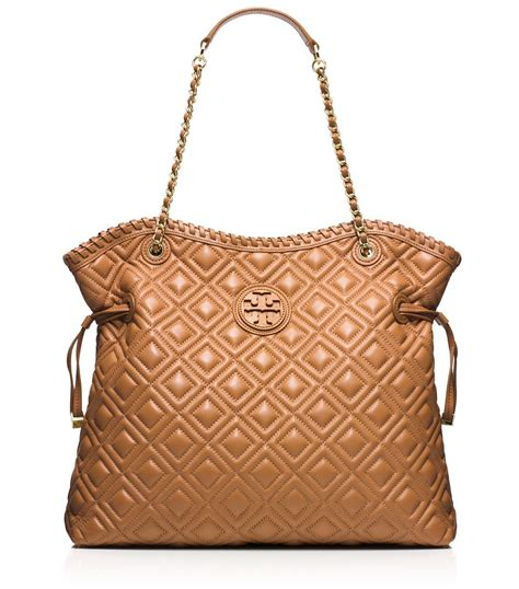 burch marion quilted slouchy tote lyst burch marion quilted tote in brown