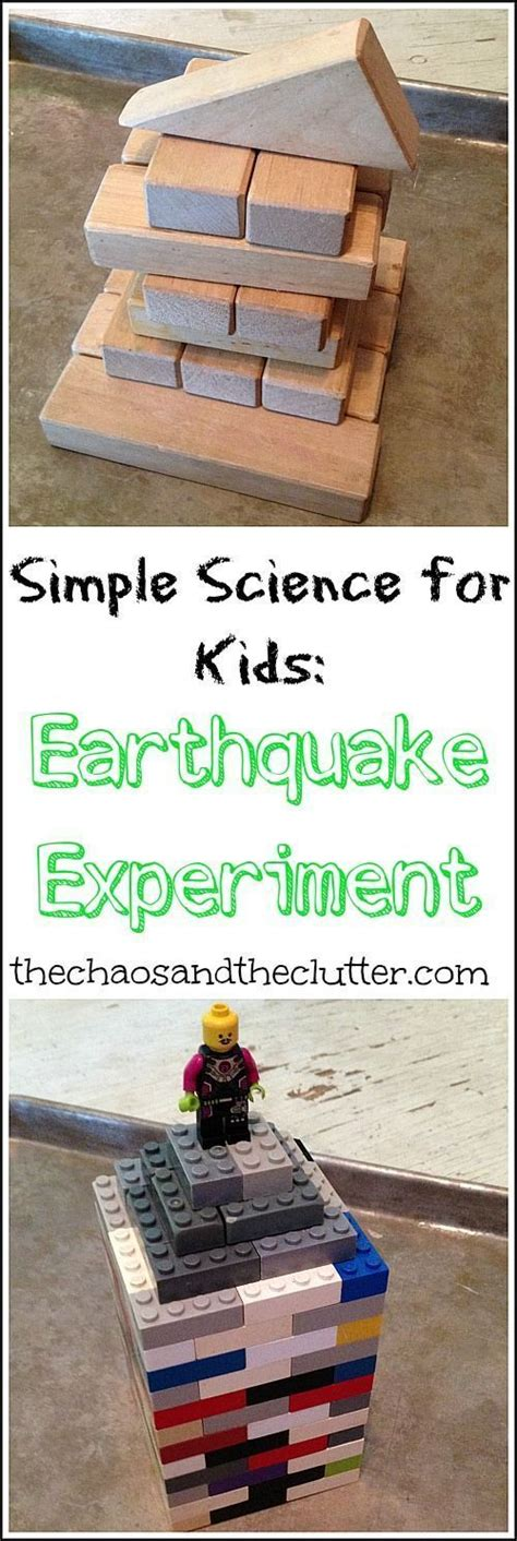 simple science earthquake experiment science activities  kids science experiments kids