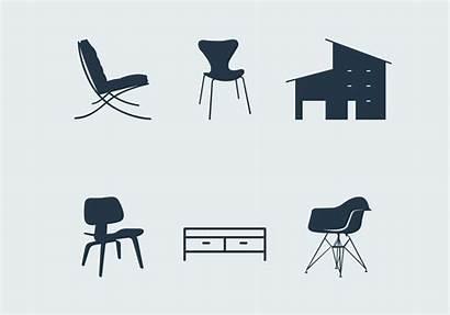 Furniture Modern Vector Midcentury Graphics System Vecteezy