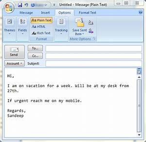 Set up auto replies in ms outlook to emulate out of office for Ooo mail template