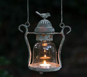 vintage style love bird candle lantern by the flower ...