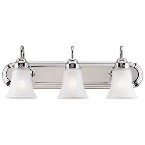 westinghouse 66522 3 light chrome wall light fixture